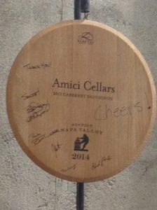 The top bidder gets a commemorative signed barrel head.